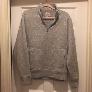 J. Crew Fleece Quarter Zip Pullover